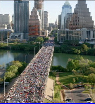 Capital 10K race in Downtown Austin