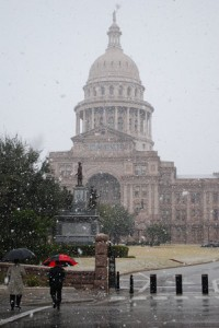 State Capitol in Snow